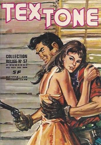 Couverture de Tex-Tone -Rec57- Collection reliée N°57 (du n°402 au n°405)