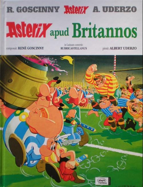 Couverture de Astérix (en latin) -8- Asterix apud britannos