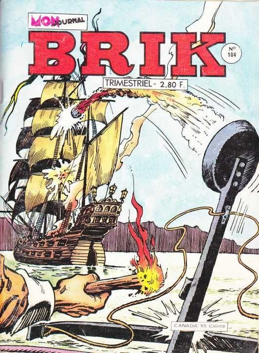 Couverture de Brik (Mon journal) -184- La fille au boulet d'or