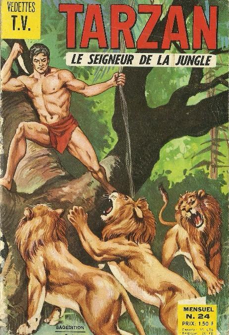 Couverture de Tarzan (2e Série - Sagédition) (Vedettes T.V.) -24- Tarzan et la cité de l'or