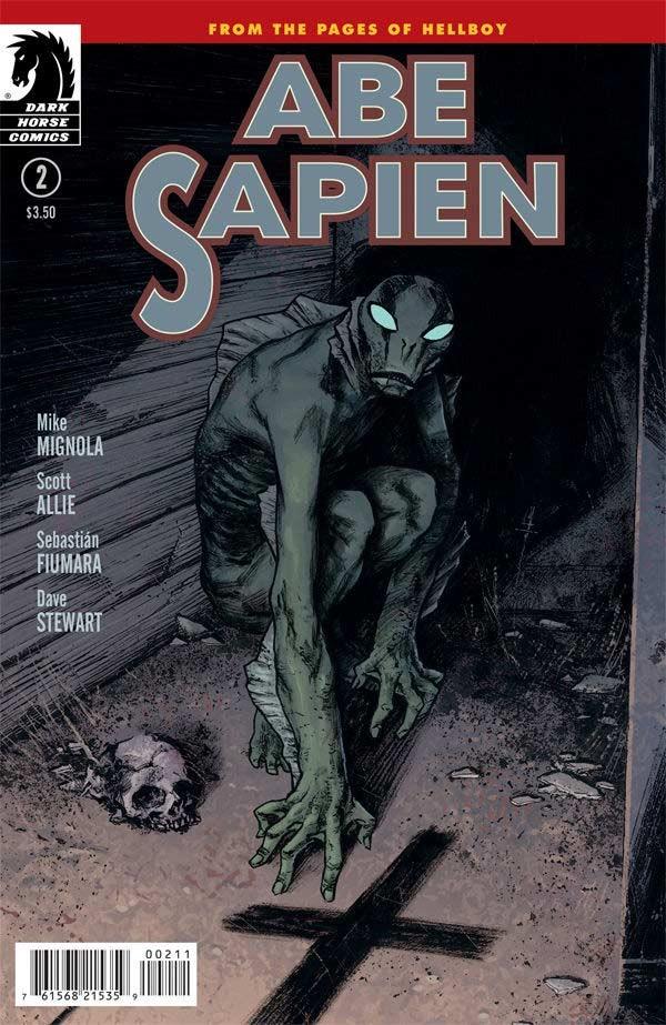 Couverture de Abe Sapien (2008) -12- Dark and Terrible (Part 2 of 3)