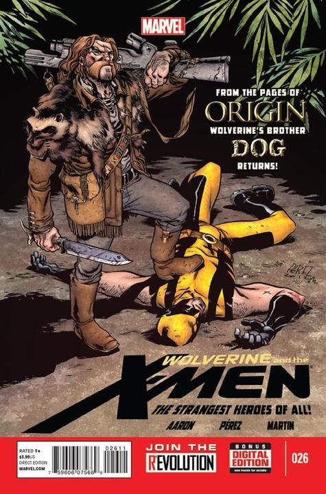 Couverture de Wolverine and the X-Men Vol.1 (Marvel comics - 2011) -26- Savage Learning (Part 2 of 4) A Boy Named Dog