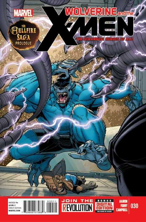 Couverture de Wolverine and the X-Men Vol.1 (Marvel comics - 2011) -30- The Hellfire Saga Prelude