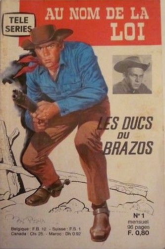 Couverture de Télé série jaune (Au nom de la loi) -1- Josh Randall : Les Ducs du Brazos