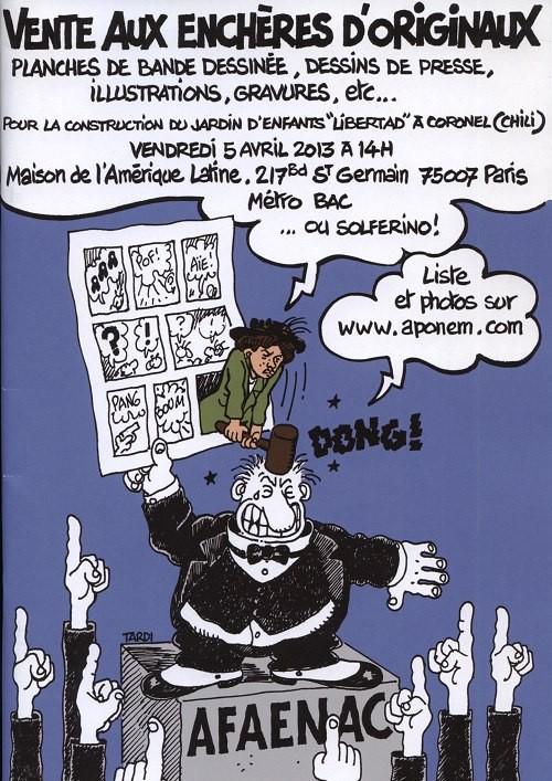 Couverture de (Catalogues) Ventes aux enchères - Divers - Aponem - Vente aux enchères d'originaux / AFAENAC - vendredi 5 avril 2013 - Paris maison de l'Amérique latine