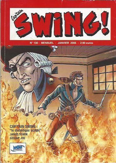Couverture de Capt'ain Swing! (2e série - Mon Journal) -130- Le diabolique scalpé