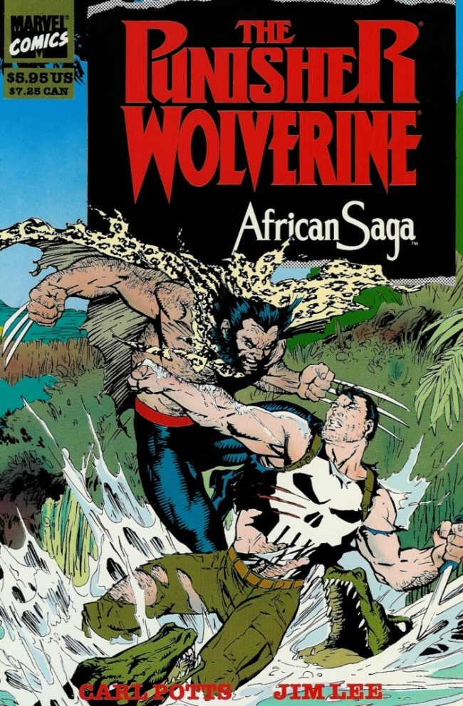 Couverture de Punisher War Journal Vol.1 (Marvel comics - 1988) -INT- The Punisher and Wolverine in African Saga