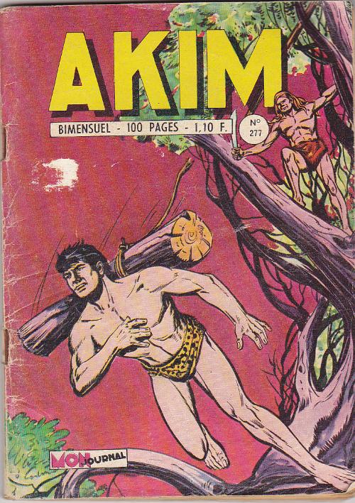 Couverture de Akim (1re série) -277- la loi de la jungle