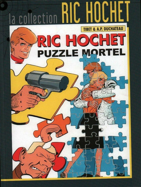Couverture de Ric Hochet - La collection (Hachette) -74- Puzzle mortel