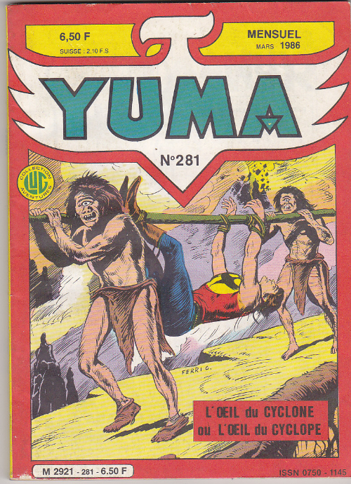 Couverture de Yuma (1re série) -281- Le gouffre infernal