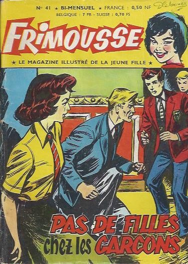 Couverture de Frimousse et Frimousse-Capucine -41- Pas de filles chez les garçons