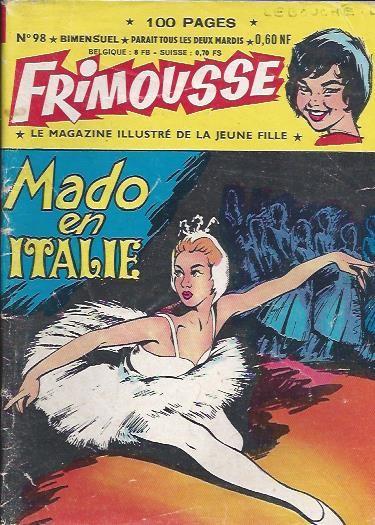 Couverture de Frimousse et Frimousse-Capucine -98- Mado en Italie