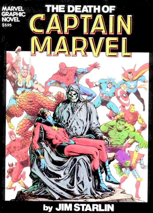 Couverture de Marvel Graphic Novel (Marvel comics - 1982) -1- The death of Captain Marvel