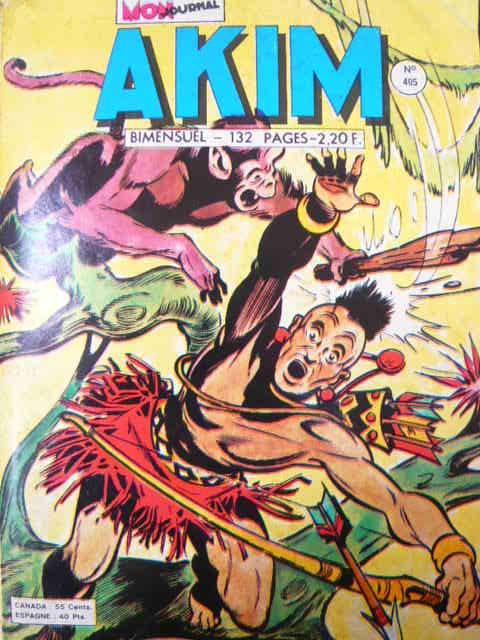 Couverture de Akim (1re série) -405- Les trésors de la jungle