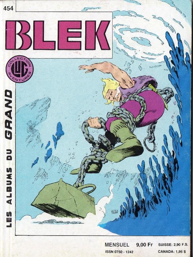 Couverture de Blek (Les albums du Grand) -454- Blek est mort !