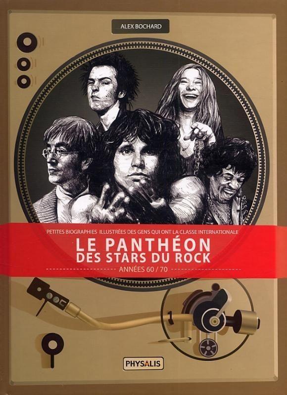 Couverture de Le panthéon des stars du rock -1- Le Panthéon des stars du rock - Années 60/70