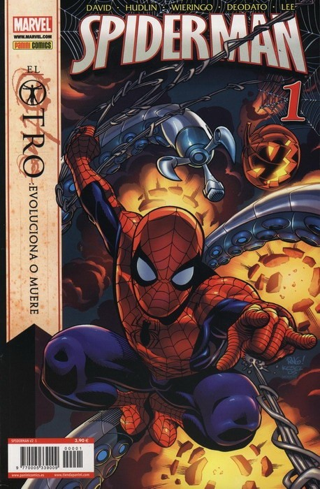 Couverture de Asombroso Spiderman -1- Spiderman v2, 1. El Otro: Evoluciona o Muere (parte 1)