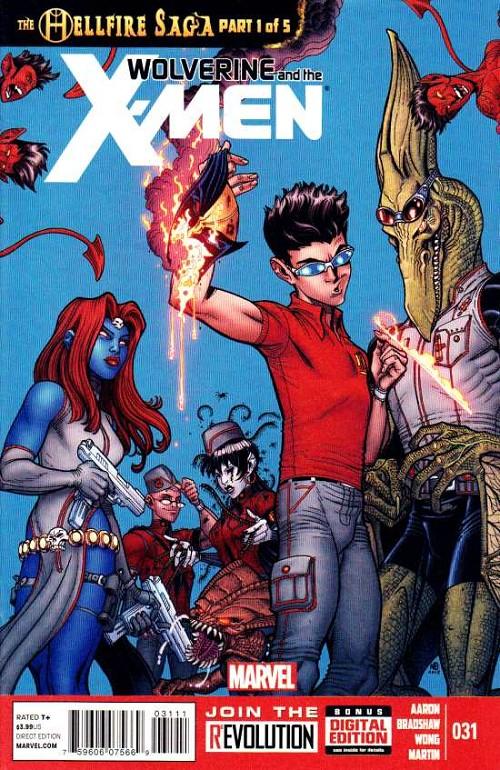 Couverture de Wolverine and the X-Men Vol.1 (Marvel comics - 2011) -31- The hellfire saga part 1 of 5