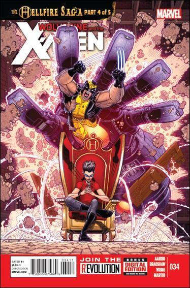 Couverture de Wolverine and the X-Men Vol.1 (Marvel comics - 2011) -34- The hellfire saga part 4 of 5