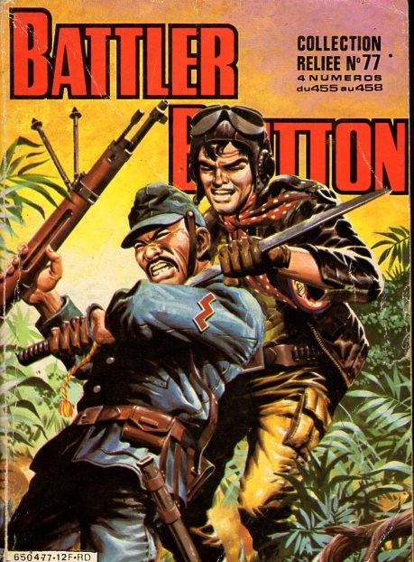 Couverture de Battler Britton (Imperia) -Rec77- Collection Reliée N°77 (du n°455 au n°458)