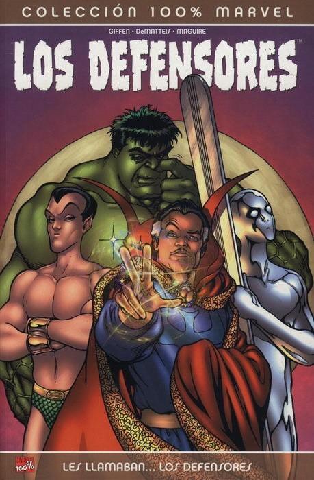 Couverture de Héroes Marvel: Tomos Únicos - 100% Marvel: Los Defensores: Les llamaban... Los Defensores