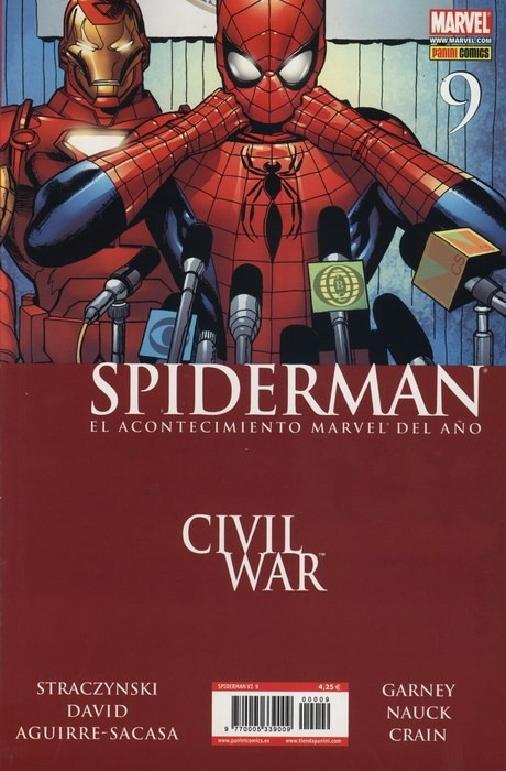 Couverture de Asombroso Spiderman -9- Civil War