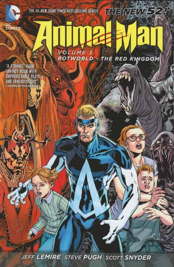 Couverture de Animal Man (2011) -INT03- Rotworld - The Red Kingdom