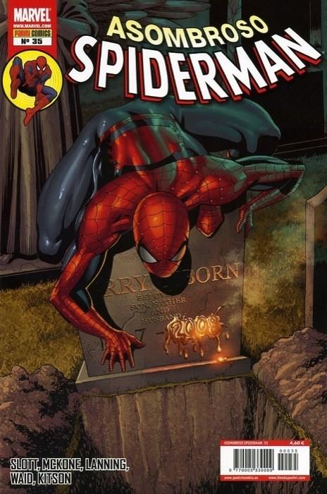 Couverture de Asombroso Spiderman -35- Fuego En La Mente. Platónico