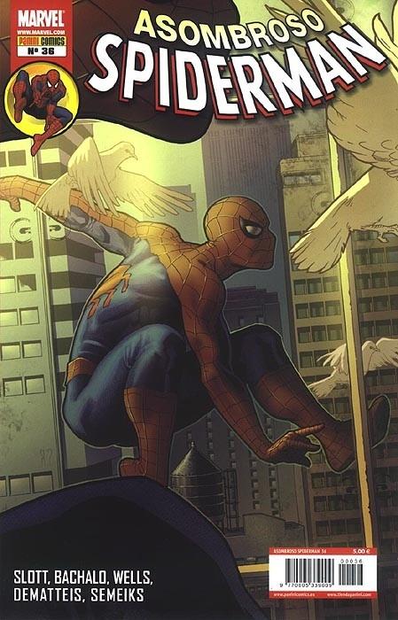 Couverture de Asombroso Spiderman -36- Blanco Y Negro. El Cumpleañero. El Puñetazo