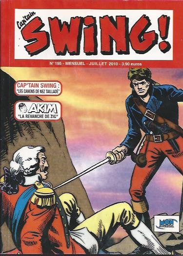 Couverture de Capt'ain Swing! (2e série - Mon Journal) -195- Les canons de Nez tailladé