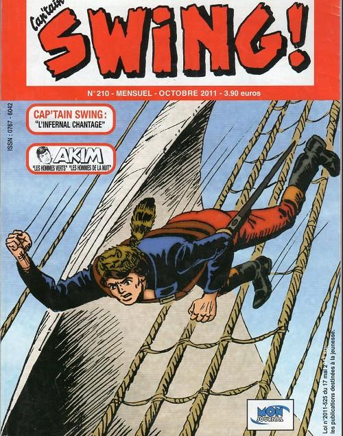 Couverture de Capt'ain Swing! (2e série - Mon Journal) -210- L'infernal chantage