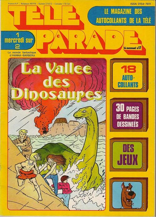 Couverture de Télé parade -17- La vallée des dinosaures
