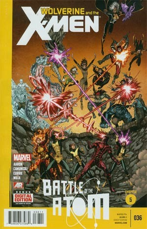 Couverture de Wolverine and the X-Men Vol.1 (Marvel comics - 2011) -36- Battle of the Atom - Chapter 5