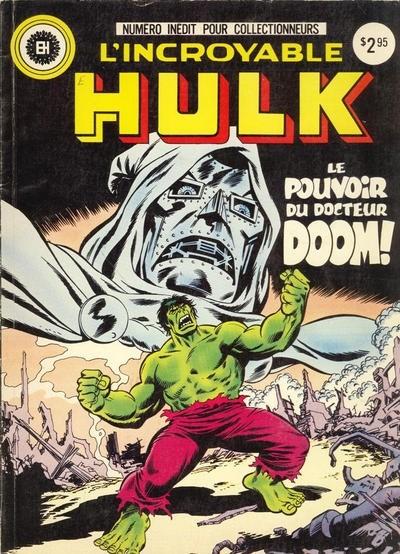 Couverture de L'incroyable Hulk (Éditions Héritage) -HS- Le pouvoir du docteur Doom
