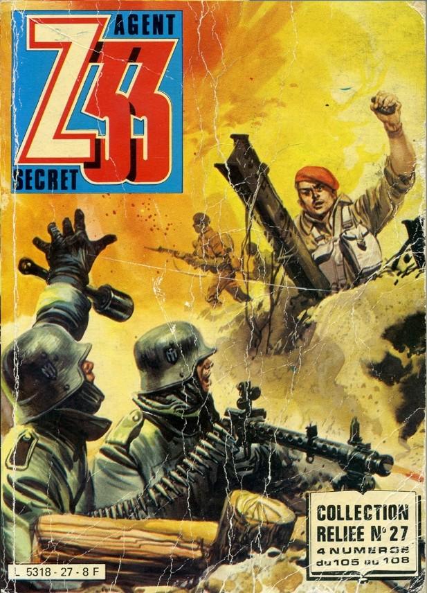 Couverture de Z33 agent secret -Rec27- Collection reliée N°27 (du n°105 au n°108)