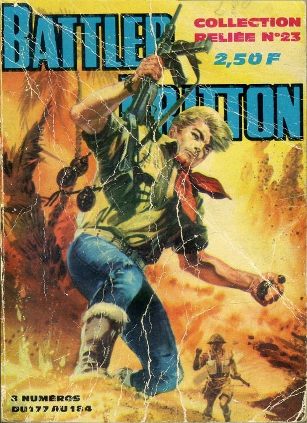 Couverture de Battler Britton -Rec23- Collection Reliée N°23 (du n°177 au n°184)