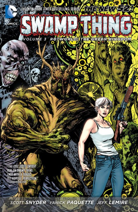 Couverture de Swamp Thing (2011) -INT03- Rotworld: The Green Kingdom