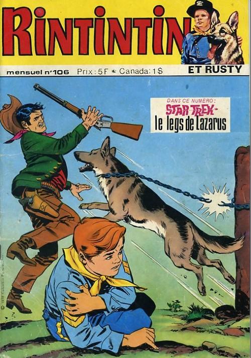 Couverture de Rin Tin Tin & Rusty (2e série) -106- L'homme qui n'avait pas de chance