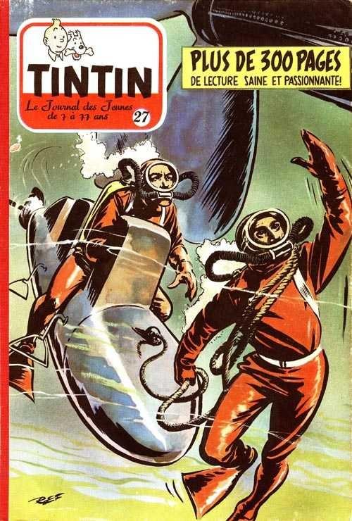 Couverture de (Recueil) Tintin (Album du journal - Édition belge) -27- Tome 27