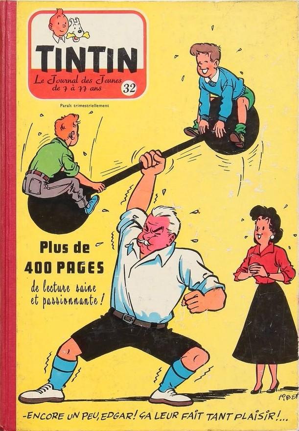 Couverture de (Recueil) Tintin (Album du journal - Édition belge) -32- Tome 32