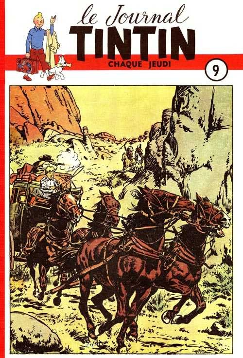 Couverture de (Recueil) Tintin (Album du journal - Édition belge) -9- Tome 9