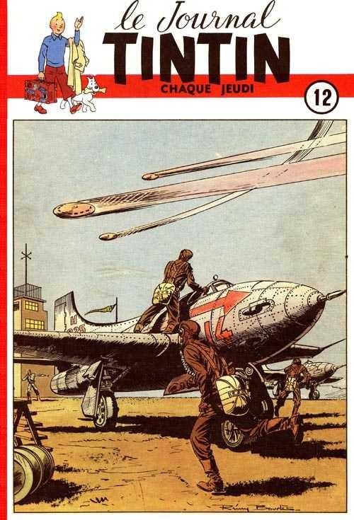 Couverture de (Recueil) Tintin (Album du journal - Édition belge) -12- Tome 12
