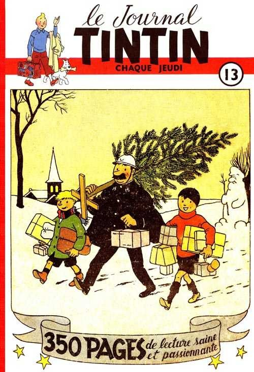 Couverture de (Recueil) Tintin (Album du journal - Édition belge) -13- Tome 13