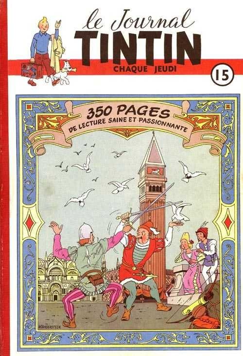 Couverture de (Recueil) Tintin (Album du journal - Édition belge) -15- Tome 15