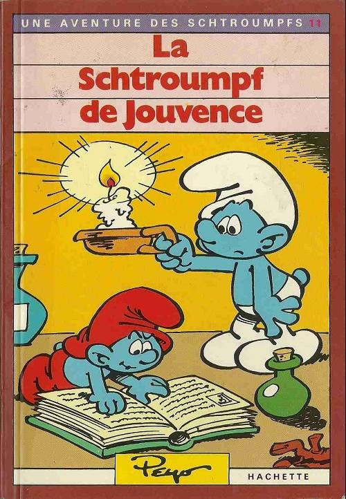 Couverture de Les schtroumpfs (Hachette-Livre de poche) -11- La schtroumpf de jouvence