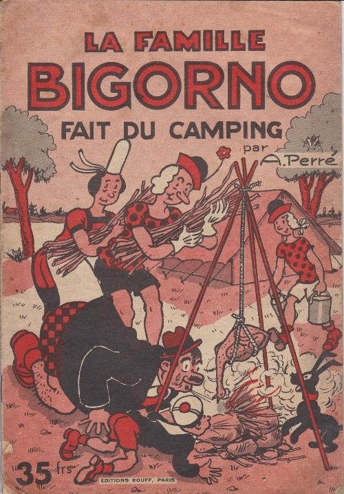 Couverture de La famille Bigorno -5- La famille Bigorno fait du camping