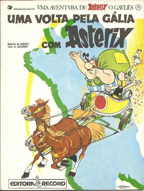 Couverture de Astérix (en langues étrangères) -5Portugais- Uma volta pela Gália com Asterix