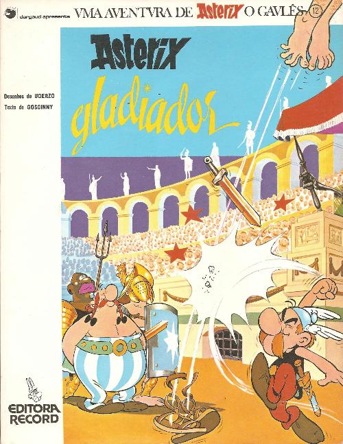 Couverture de Astérix (en langues étrangères) -4Portugais- Asterix gladiador