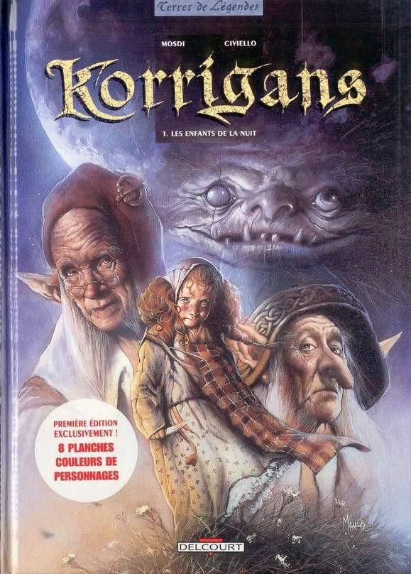 Couverture de Korrigans (Mosdi/Civiello) -1- Les enfants de la nuit