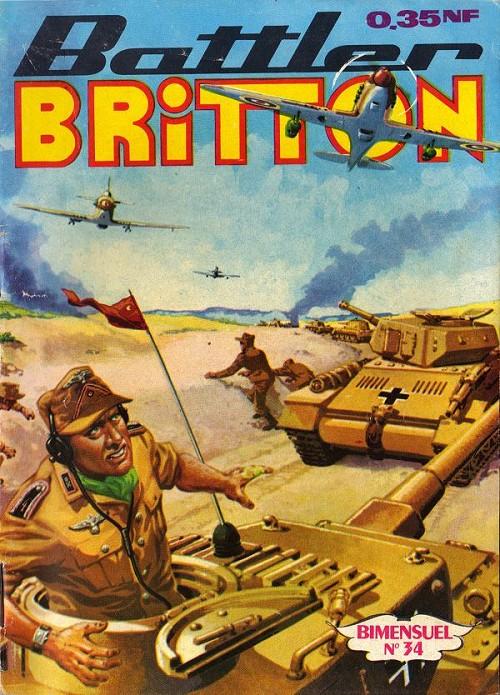Couverture de Battler Britton (Imperia) -34- Dangereux signal - audace - l'as du fric frac